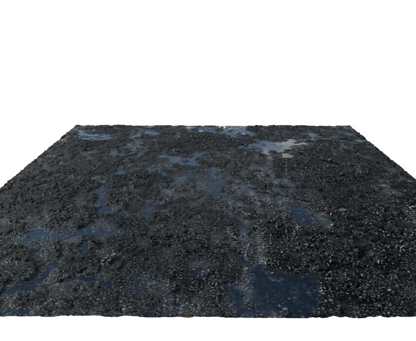 Dirty broken concrete ground