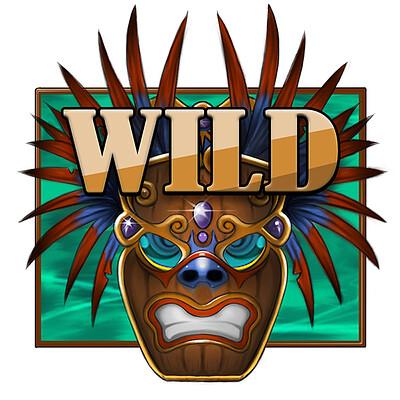 Casino game Icon (wild card) concept design