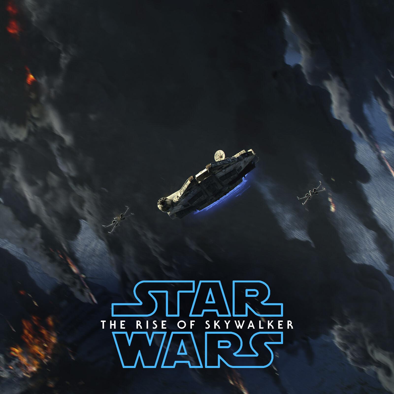 STAR WARS Episode IX / VFX  Concept work, ''Fleet escape''