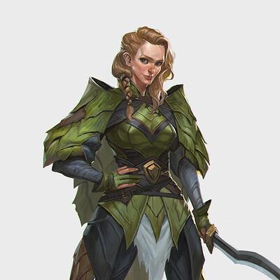 Rudy siswanto rudy siswanto nature warior female sword artstation thumb