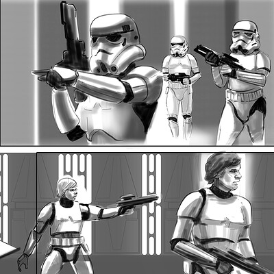 Robert baird robert baird cover storyboards star wars