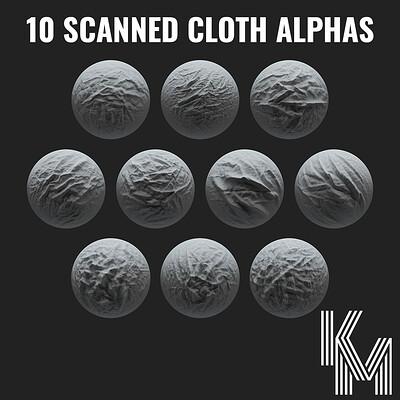 Kai moisch kai moisch 10 scanned sculpting cloth brushes 01