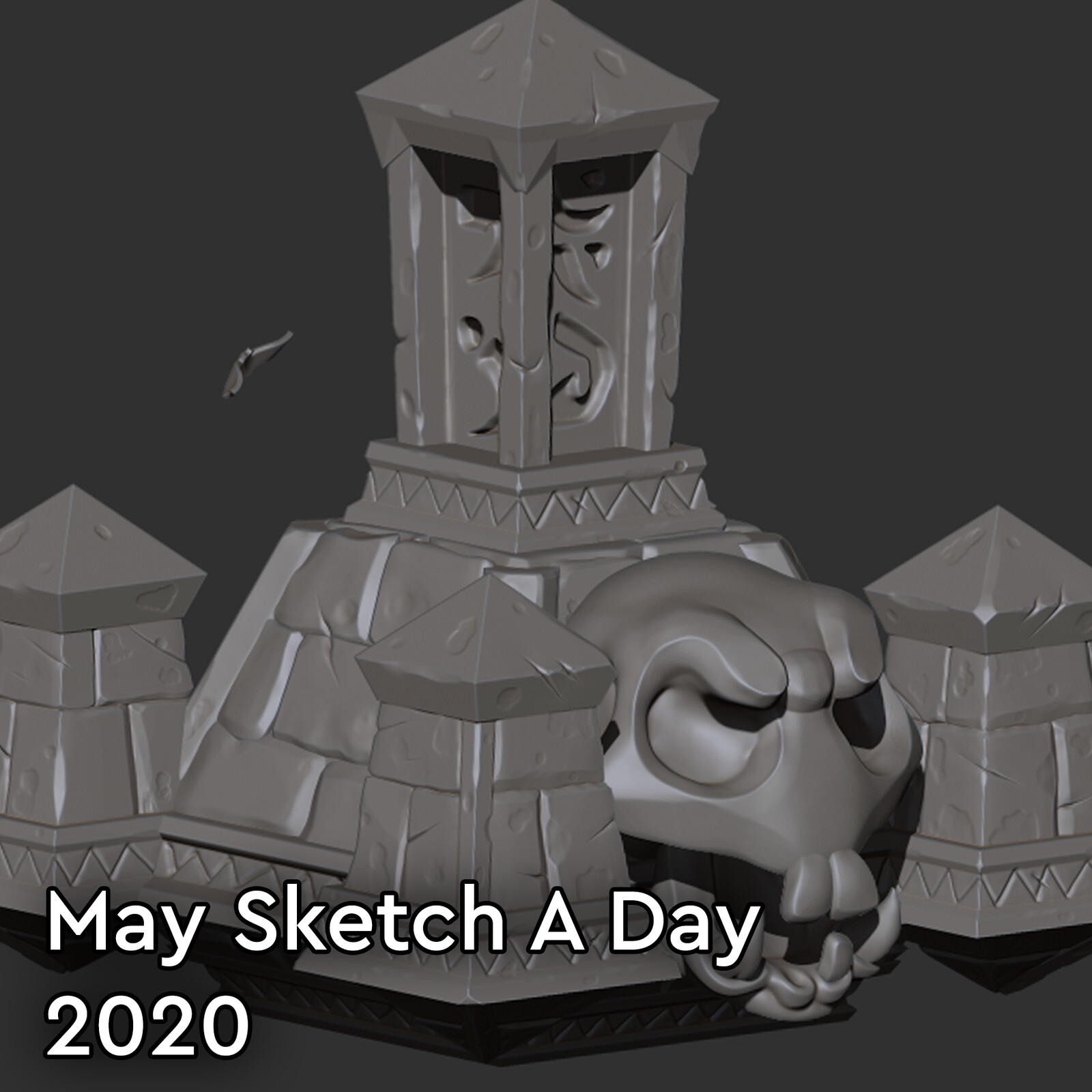 May Sketch a Day 2020 -Learning Zbrush