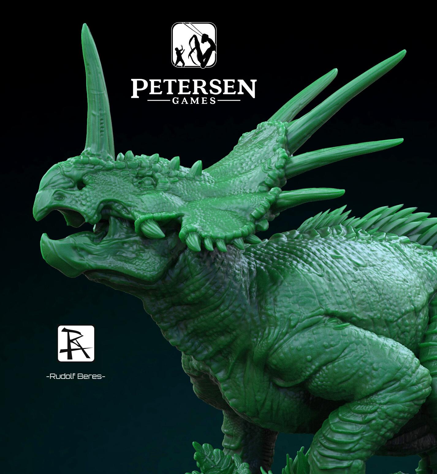 Dinosaur 1944 Sandy Petersen  Styracosaurus