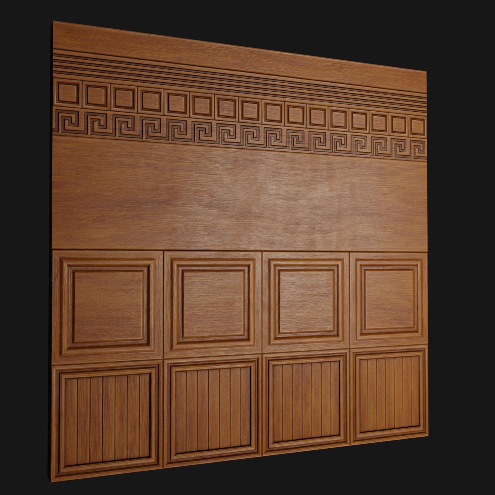 Fine Wood Panel TrimSheet