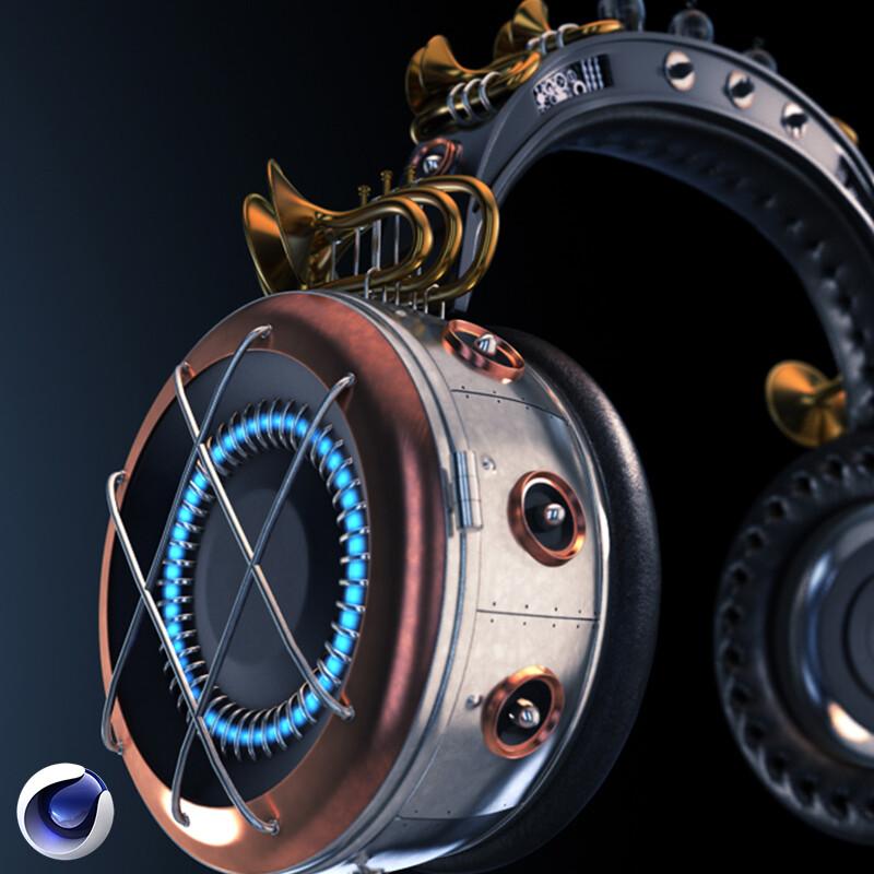 Fantasy Headphone Texture & Physical Render