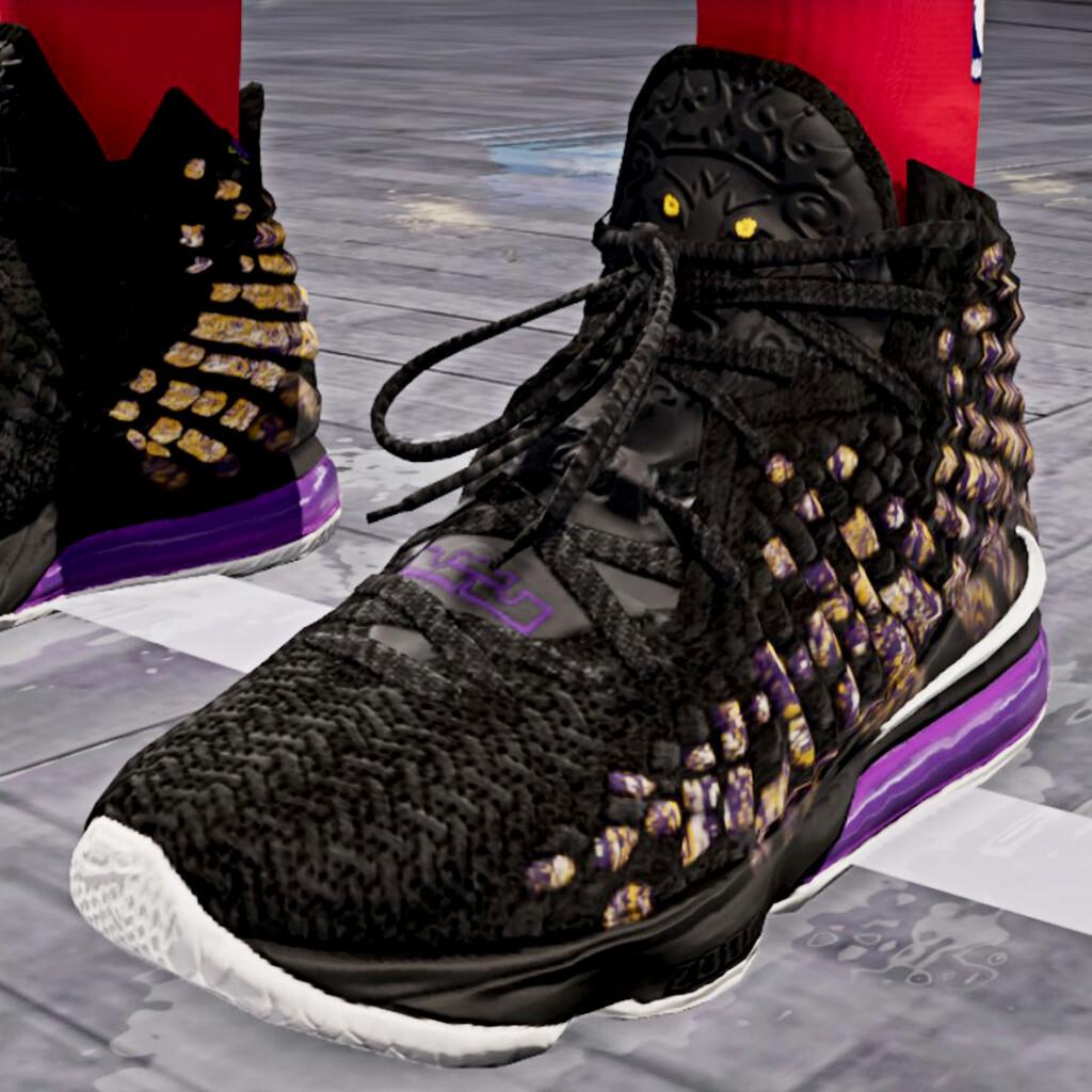 poetas comer Duplicar  Kawon Davis - Nike LeBron 17 Lakers