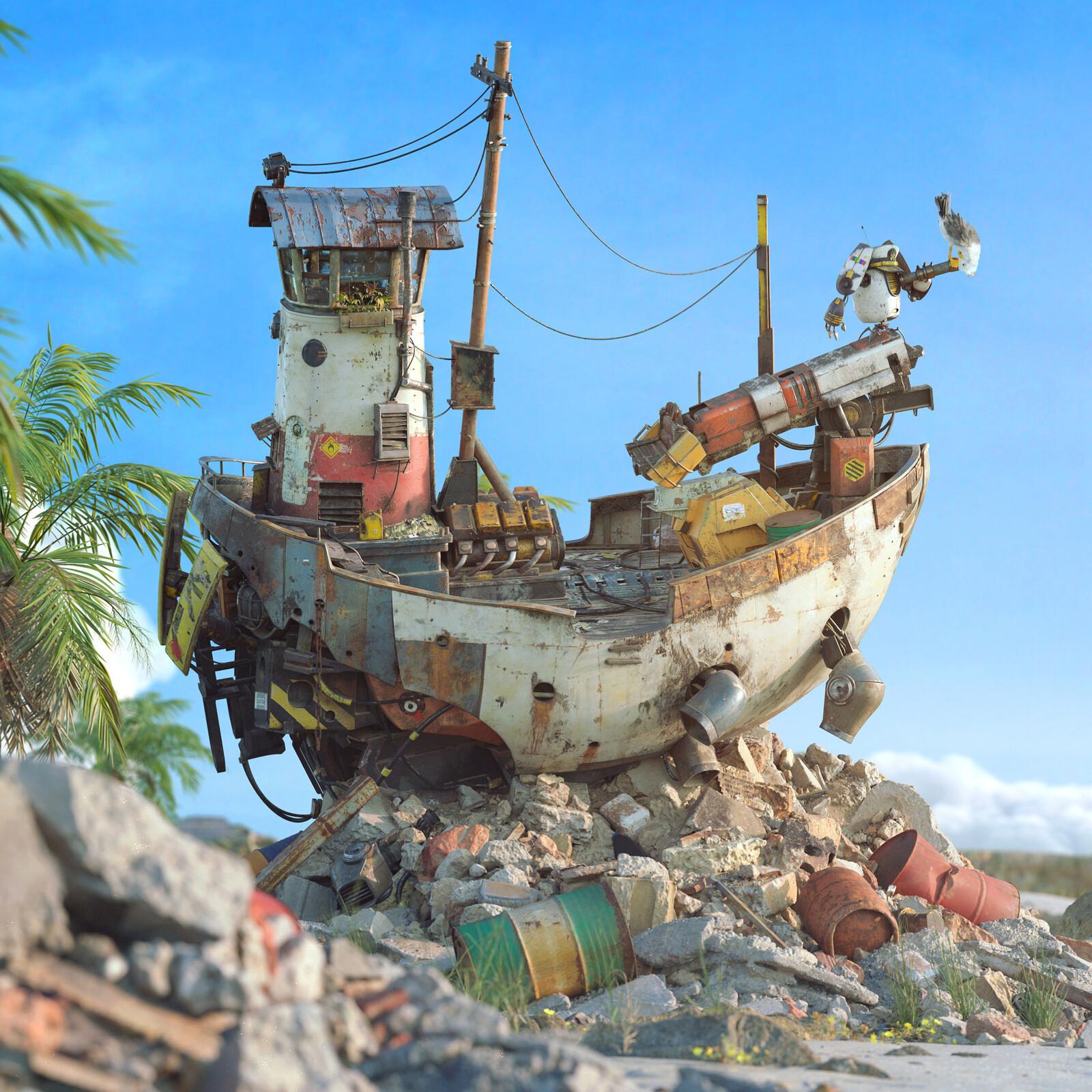 Washed Up - Pixar's ShipShape Art Challenge
