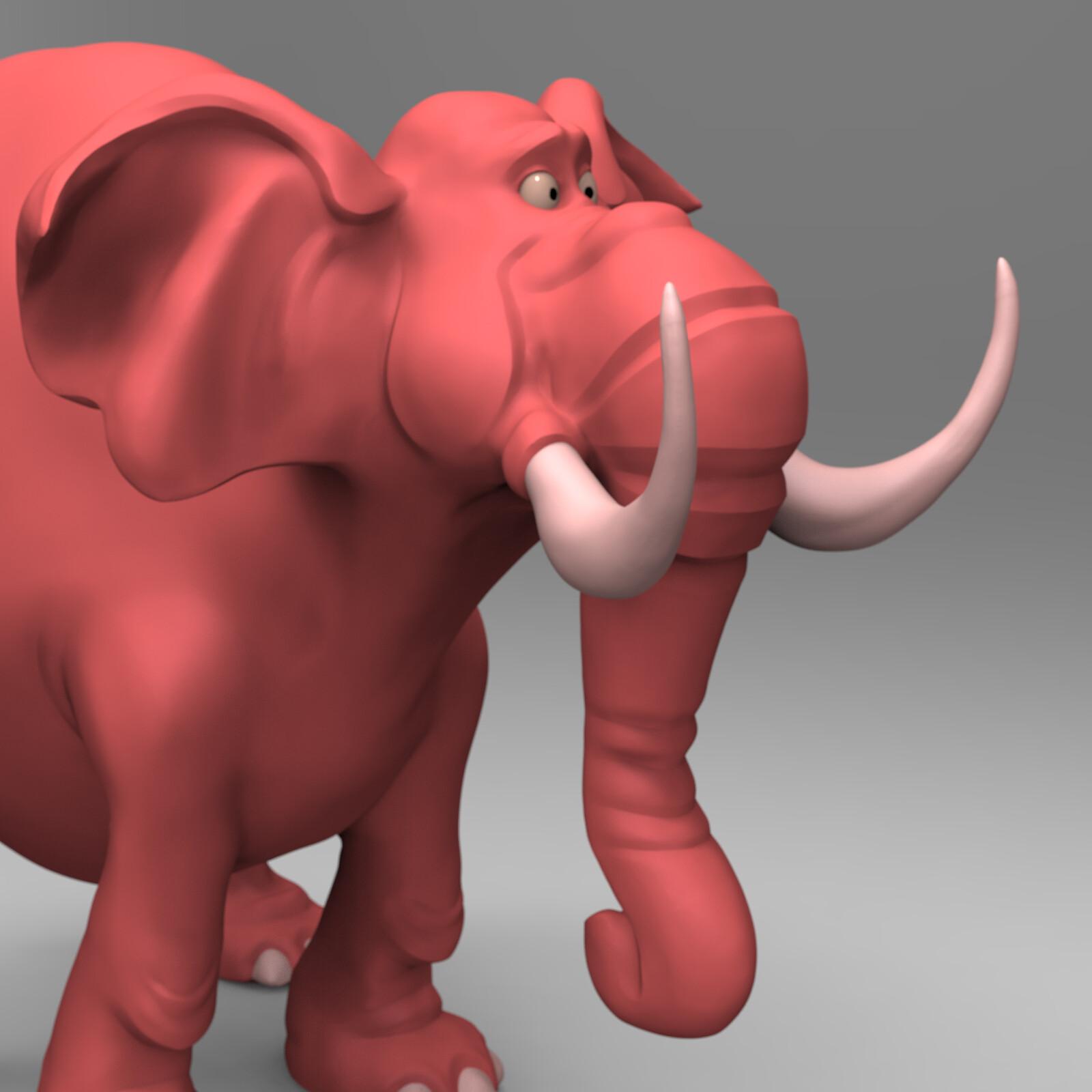 Toon Elephant Concept