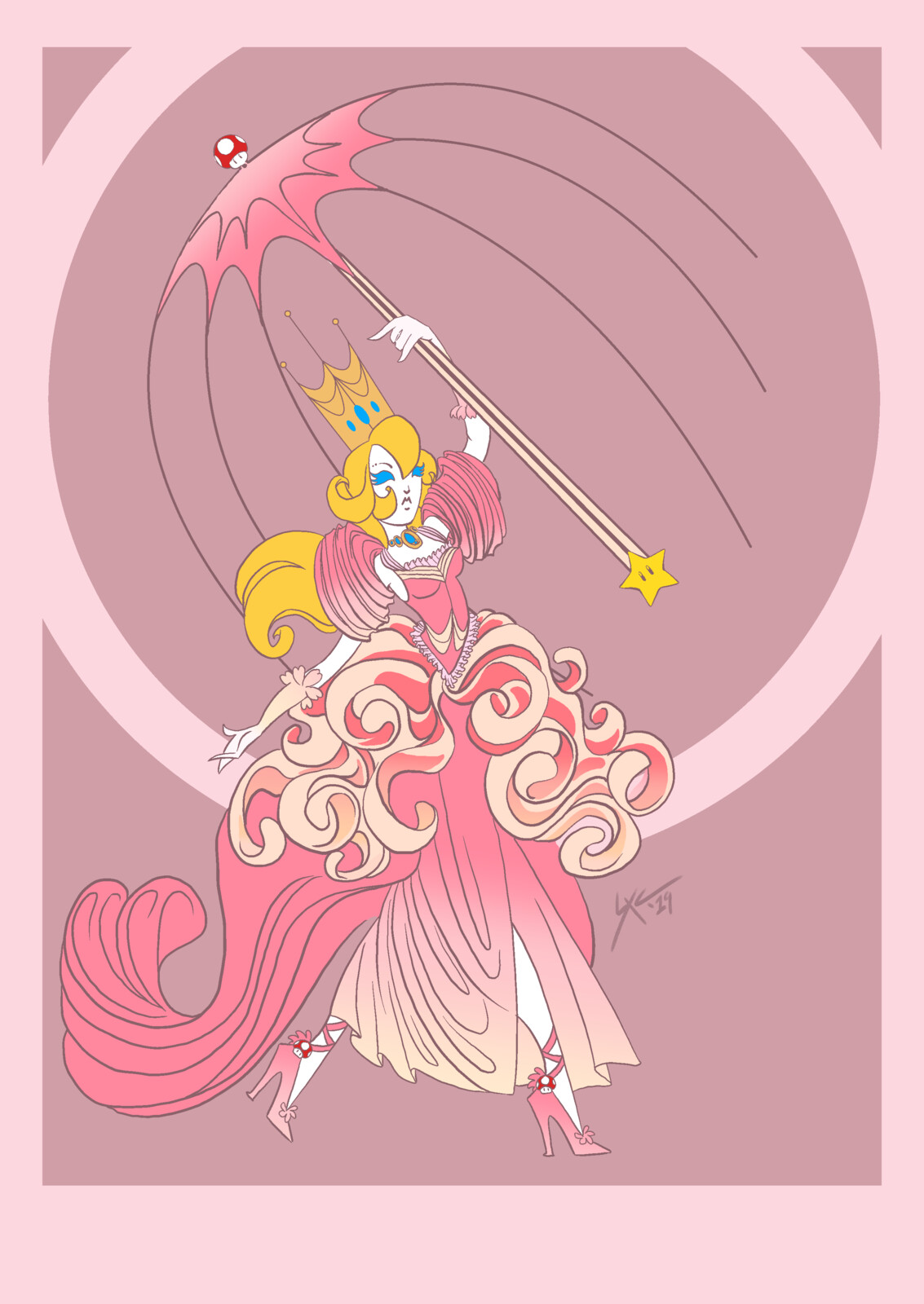Fan Art: Nintendo Erte - Princess Peach