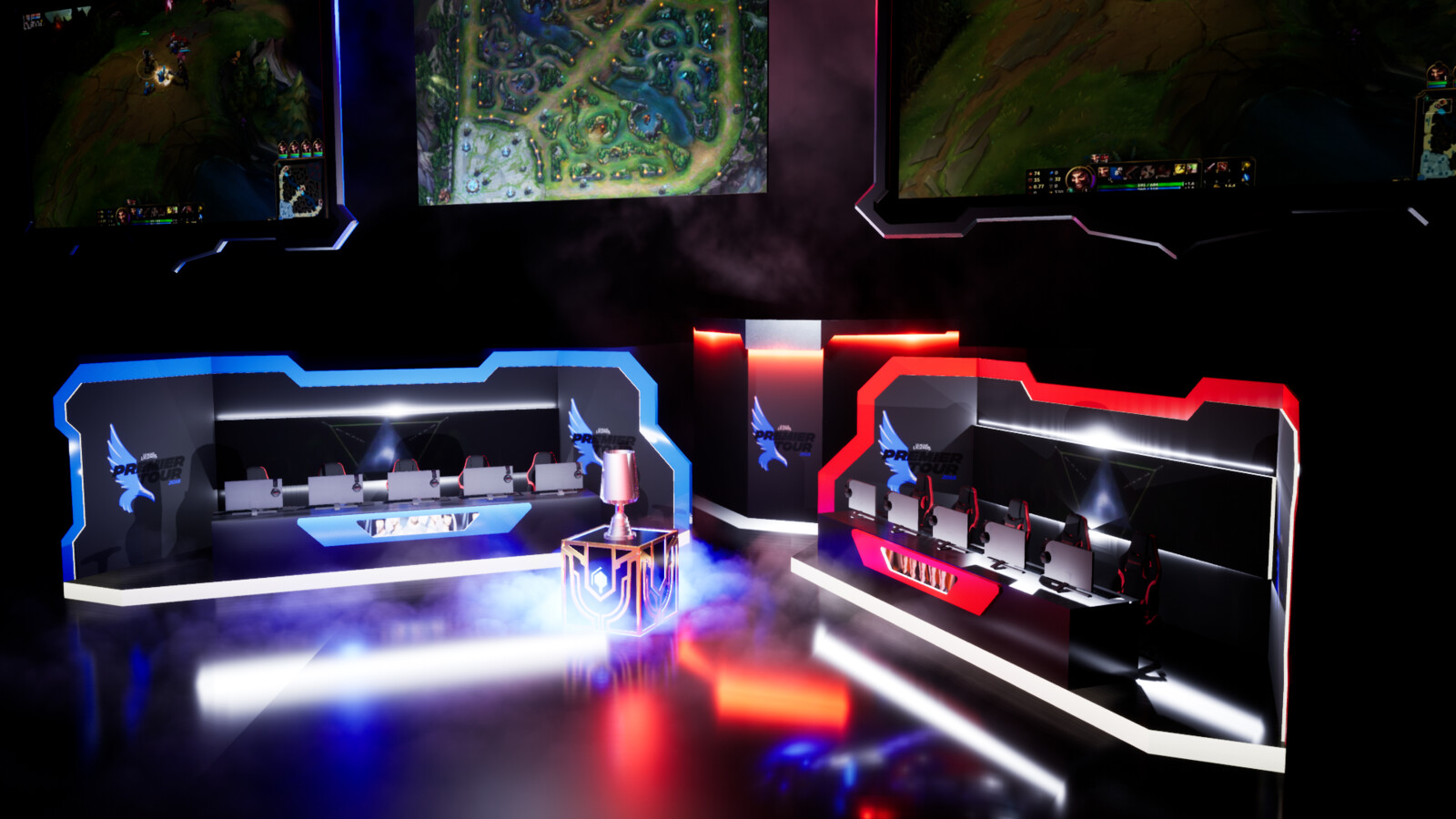 LCS Europa Premier Tour Stage Concept 2019