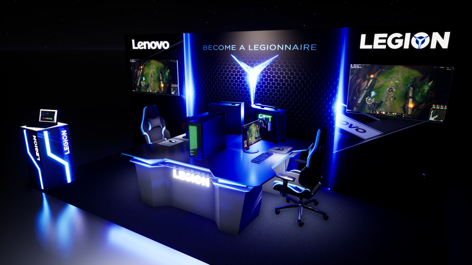 Lenovo Legion Booth Concept 2019