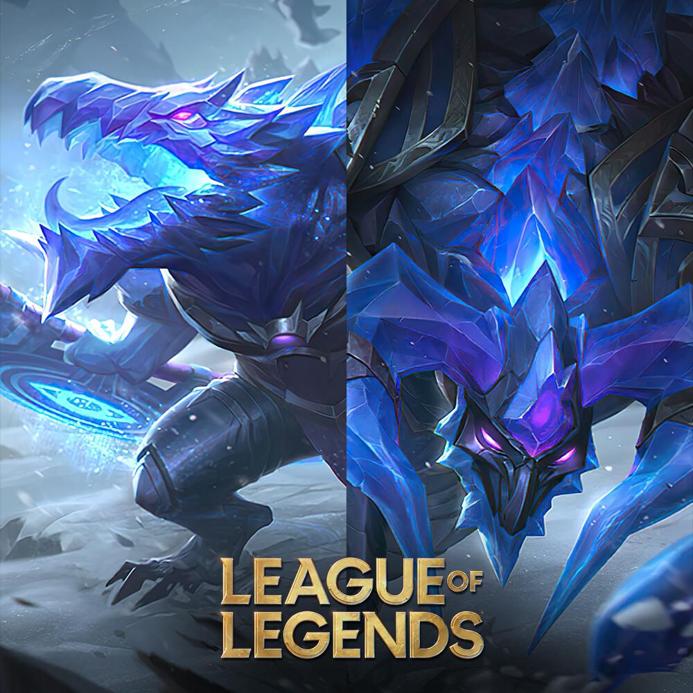 Blackfrost Duo - Alistar and Renekton Splash art for League of Legends