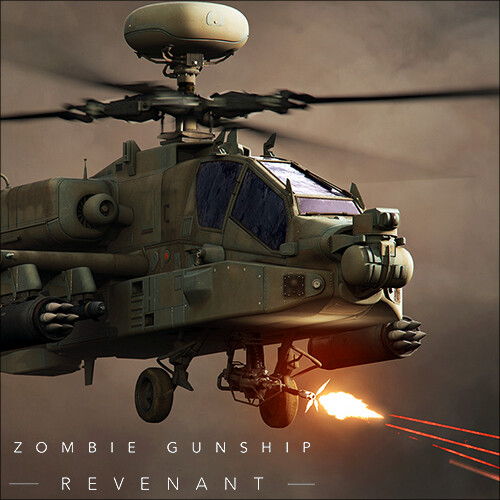 Zombie Gunship: Revenant keyart and app icon