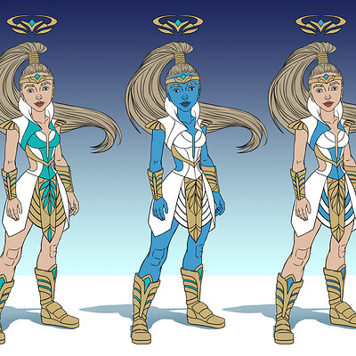 Seraphina Warrior Angel Concepts