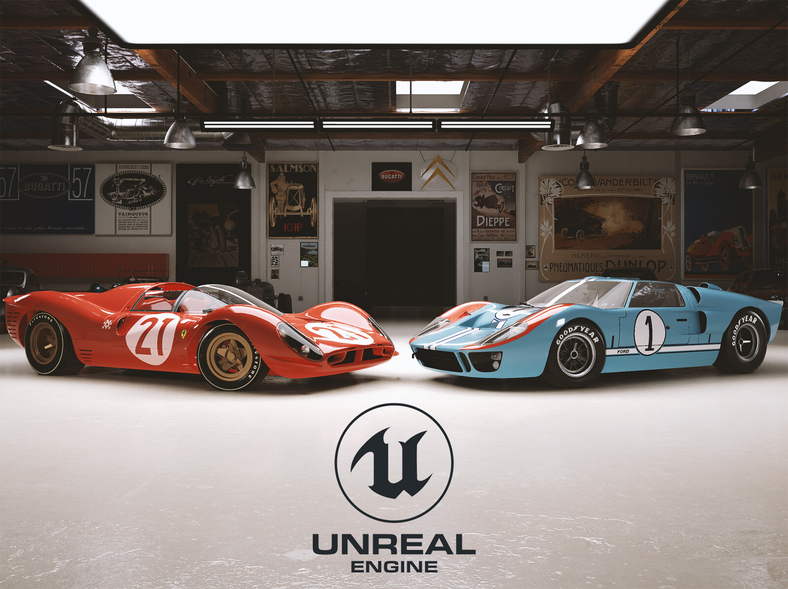 Unreal Engine - Ford v Ferrari