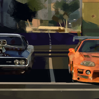 FnF 1 Paint Study (Fast and the Furious 1)