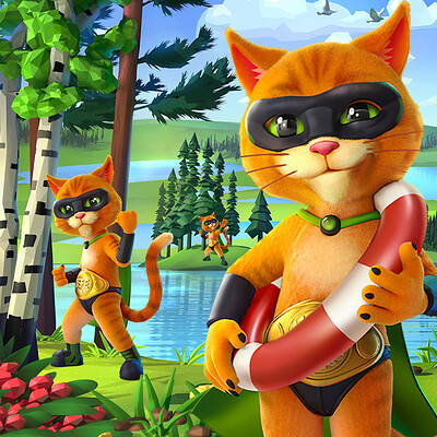 Retrostyle games retrostyle games jefe cat artstation icon 648x648 03