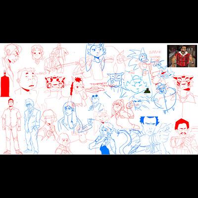 Sketch Dump ( with @pennikenjoshua )