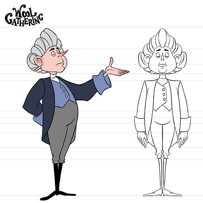 Carriage Footman Character Design