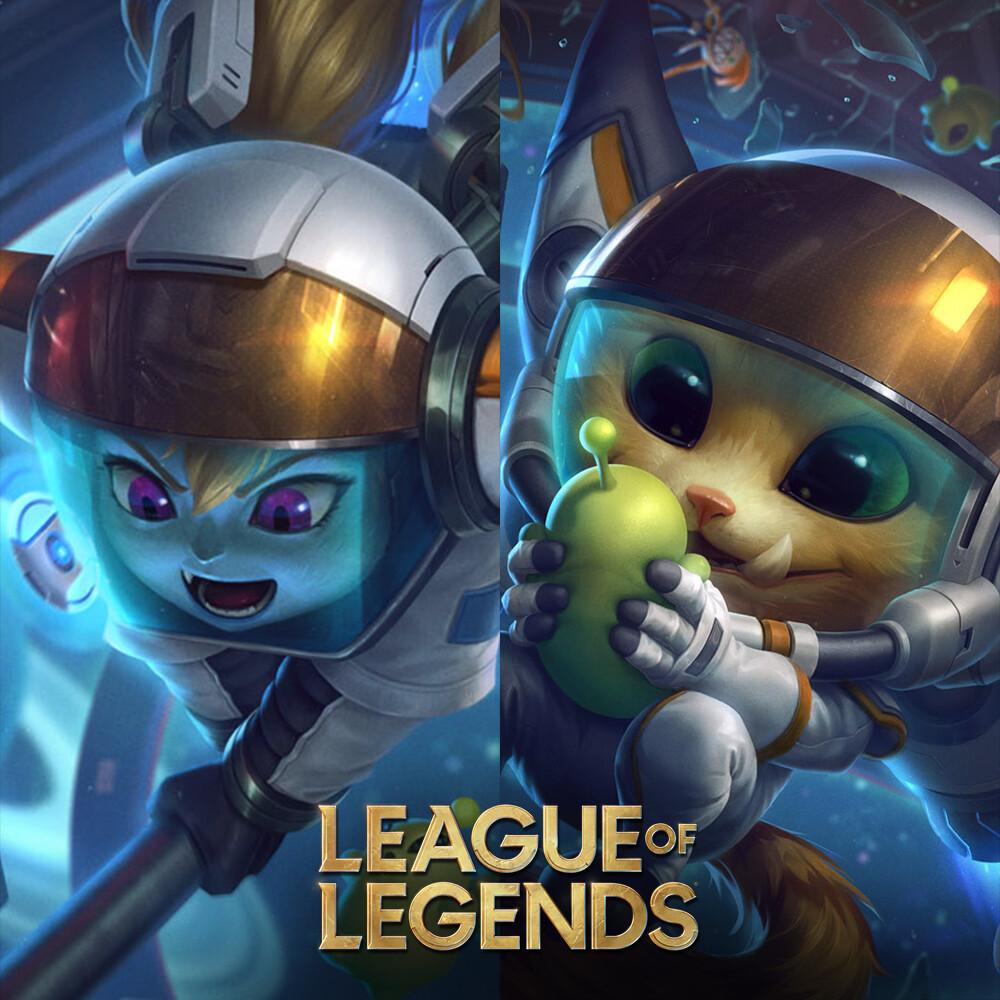 Astronaut - Gnar and Poppy - Splash art League of Legends
