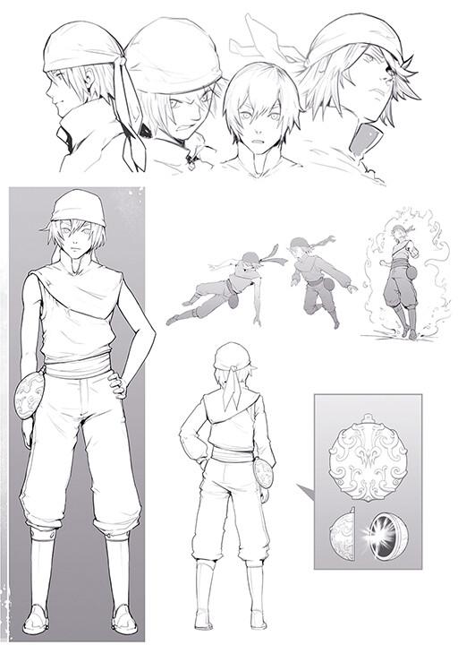 CHARACTER DESIGN | OC Design sheet - ©Joshua