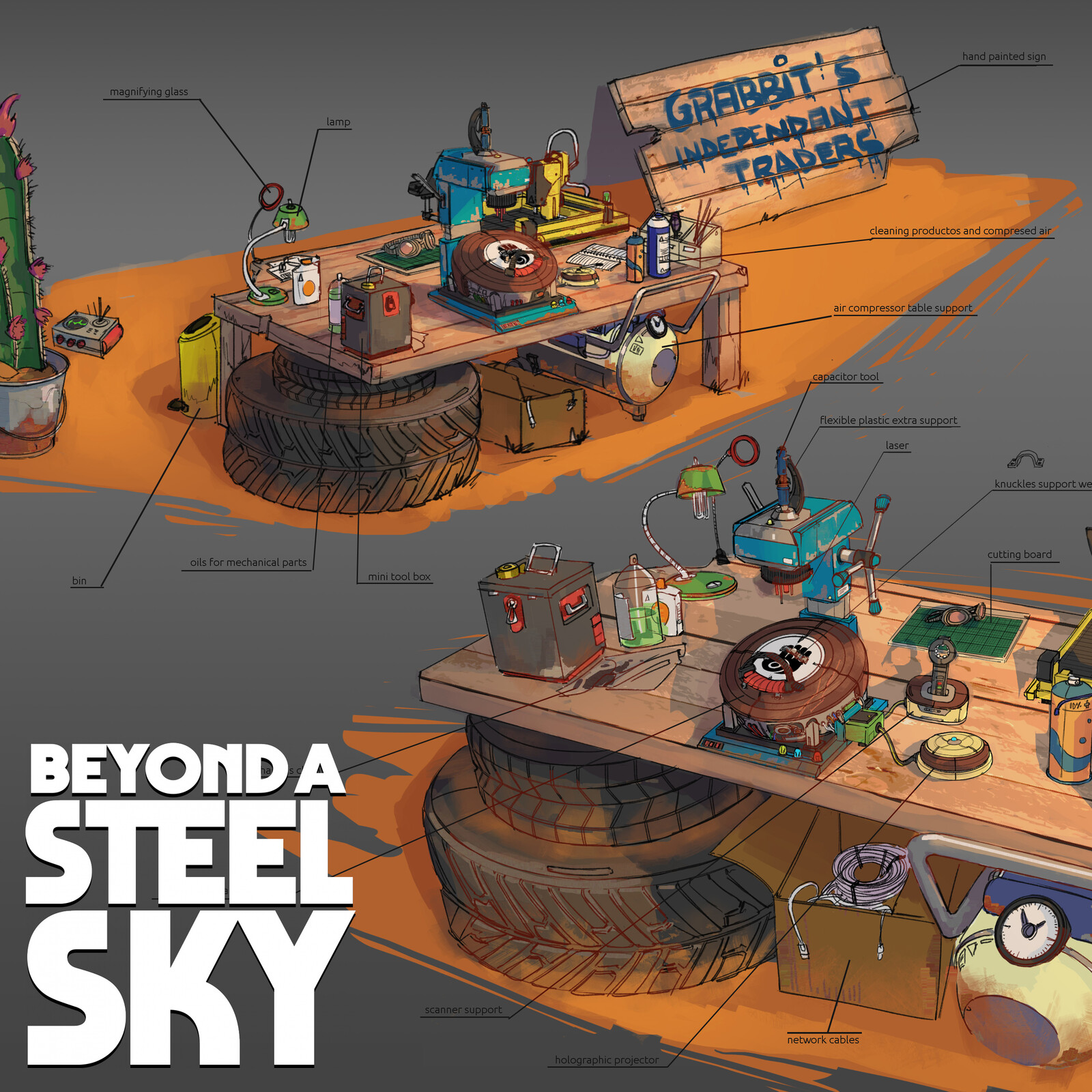 BEYOND A STEEL SKY: Ember's workbench