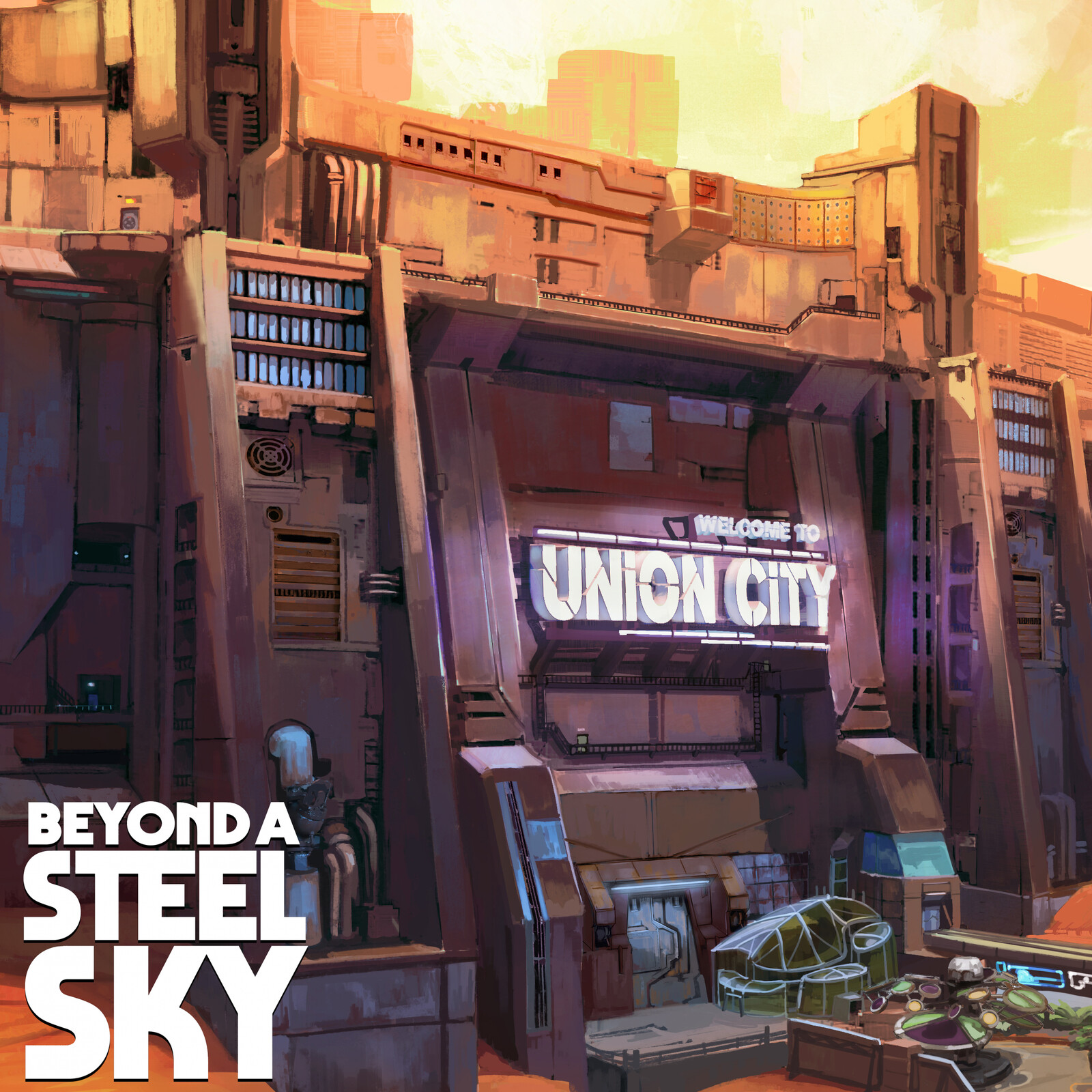 BEYOND A STEEL SKY: Union City Walls
