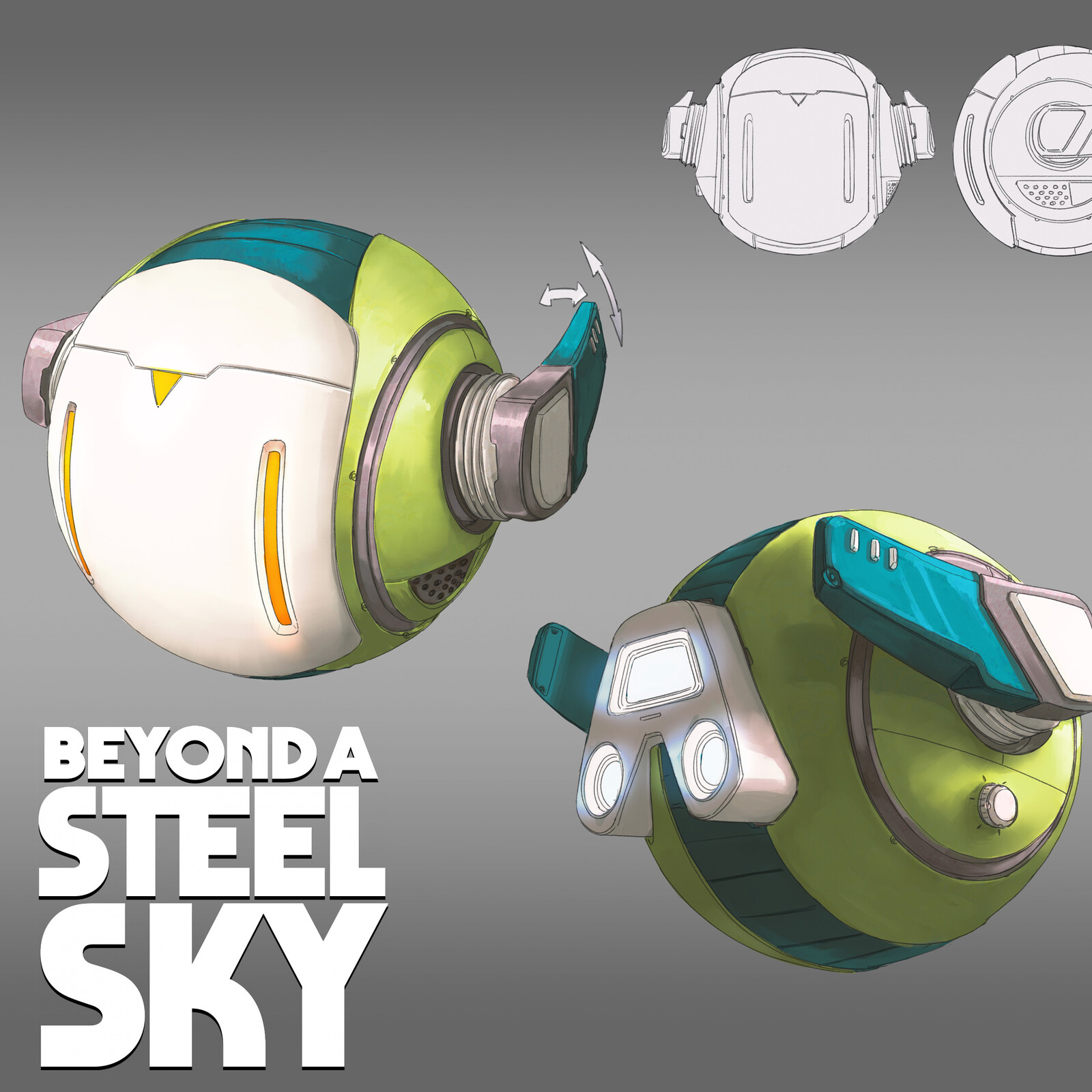 BEYOND A STEEL SKY: Joey shell dron