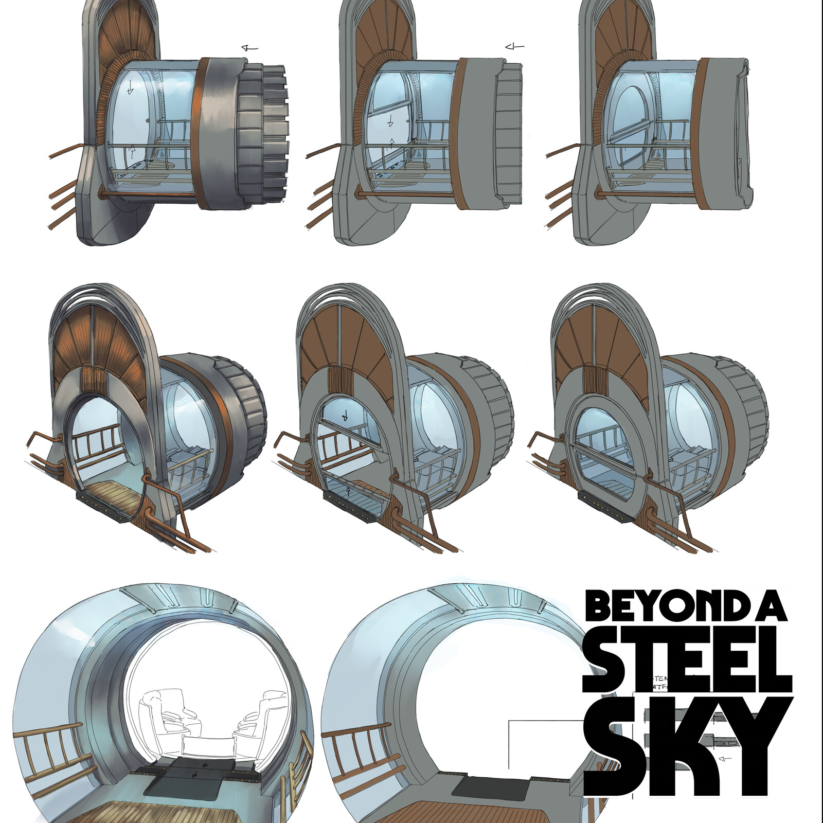 BEYOND A STEEL SKY: Monopod Stations
