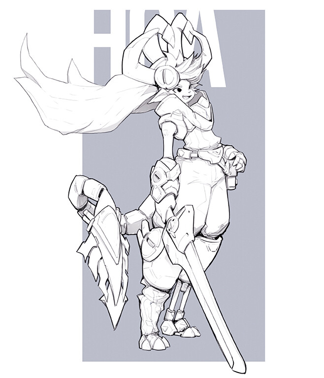 CHARACTER DESIGN | OC lineart - Anio ($70)