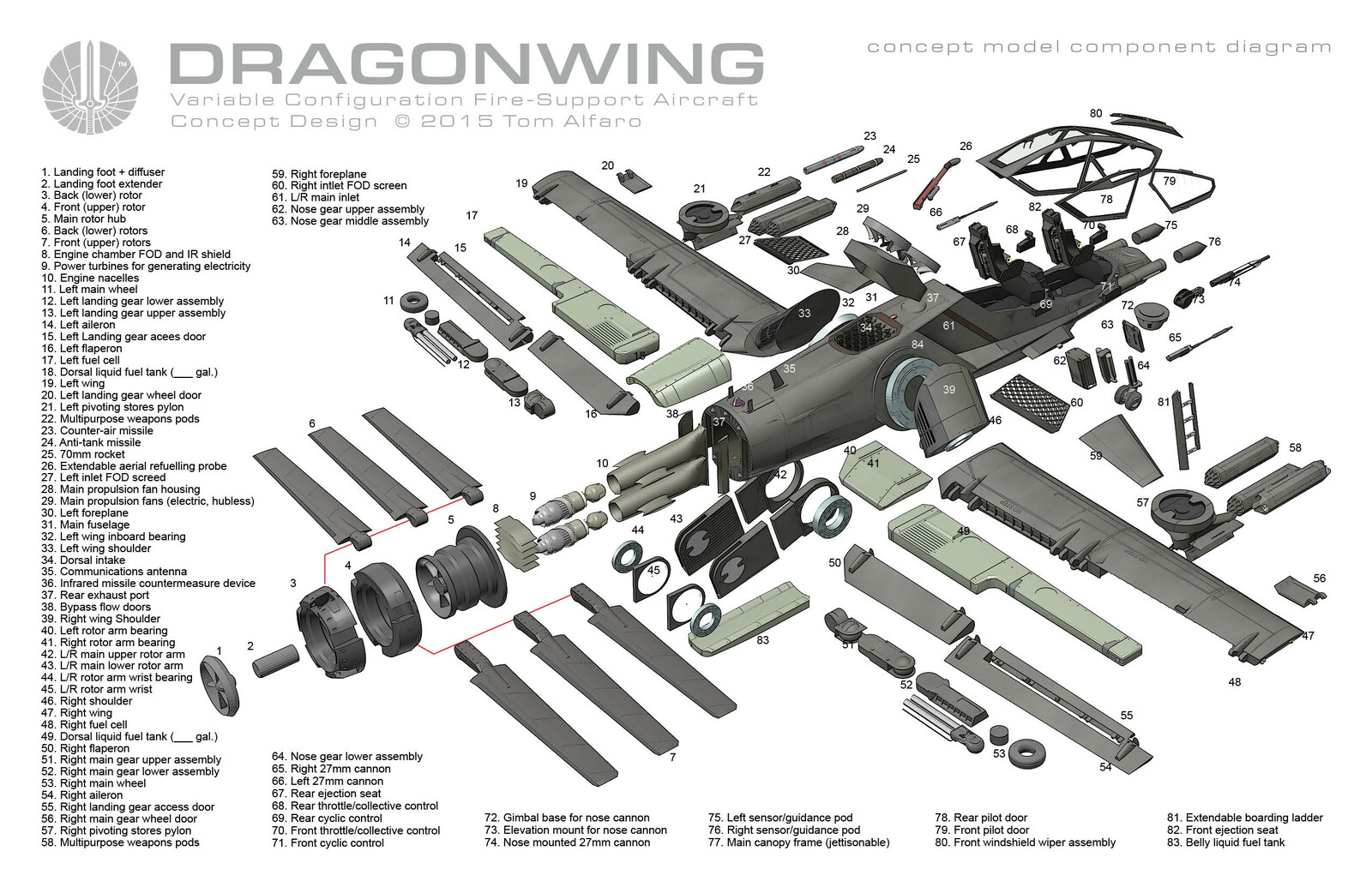 DRAGONWING TECHNICAL ILLUSTRATIONS