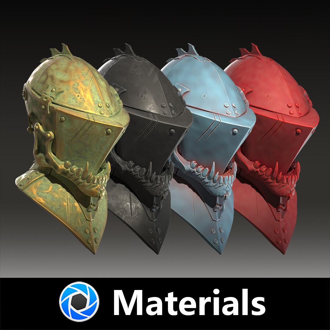 Keyshot form materials