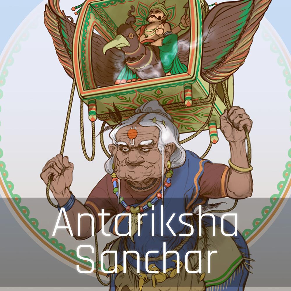 Antariksha Sanchar concepts - Old Lady NPC