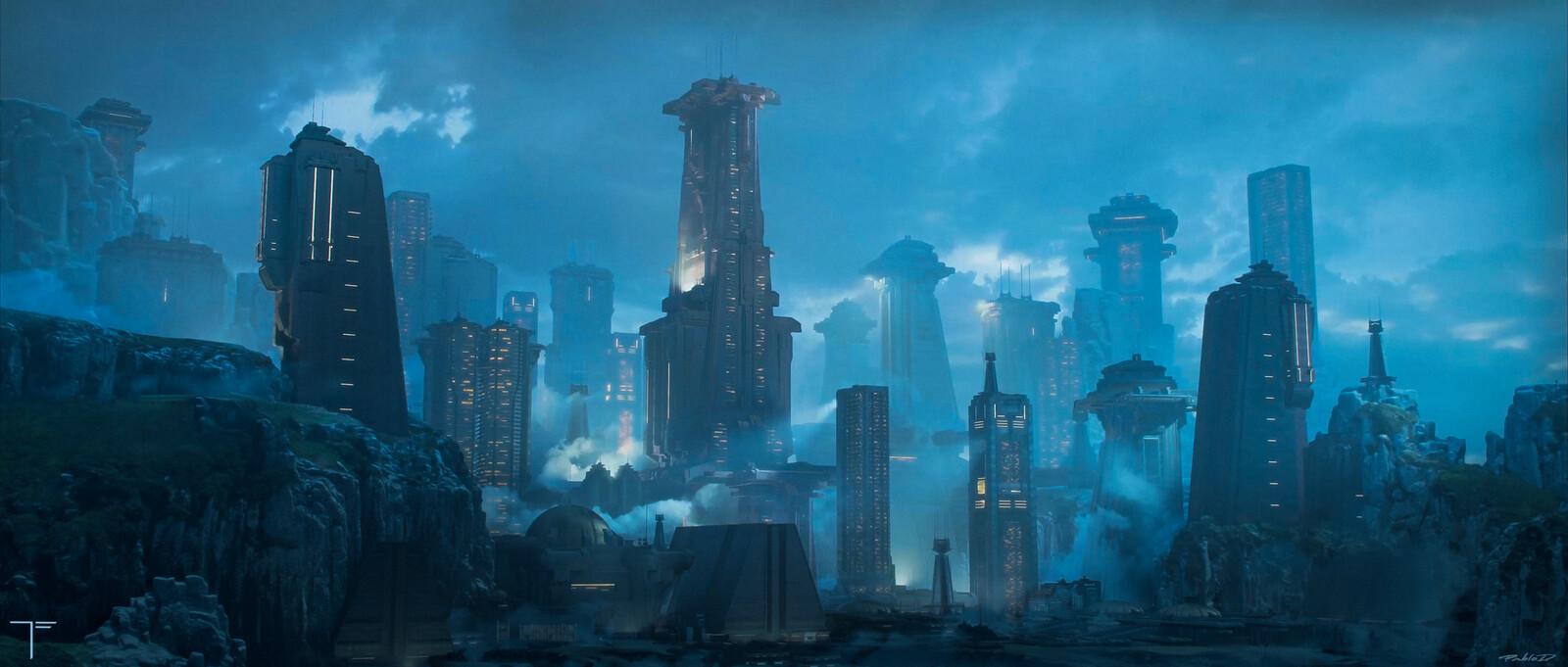 Scifi Buildings  cover for Terraform Studios.