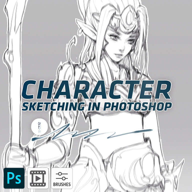 Character Sketching in Photoshop