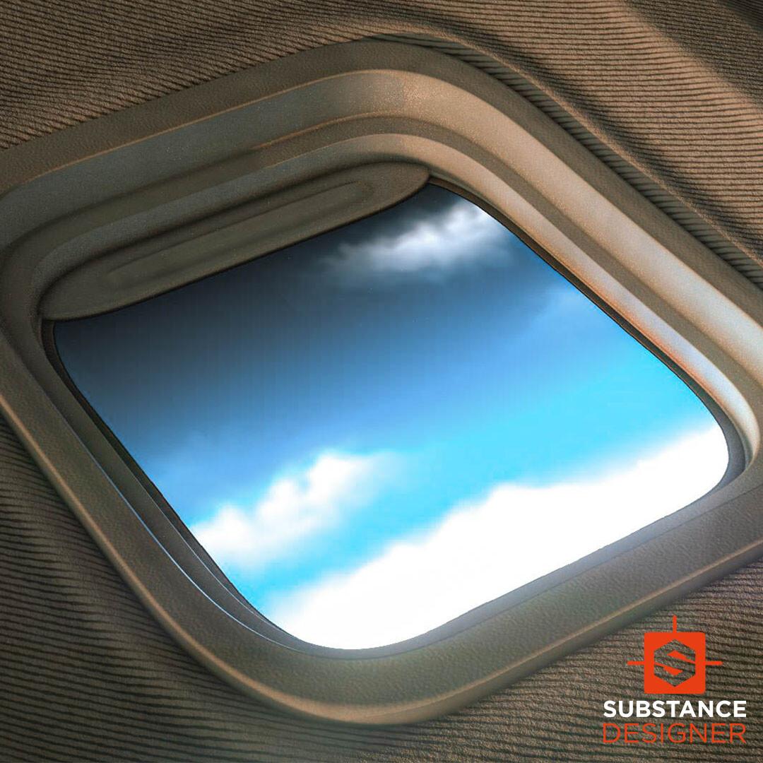 airplane window material  - 100% Substance Designer
