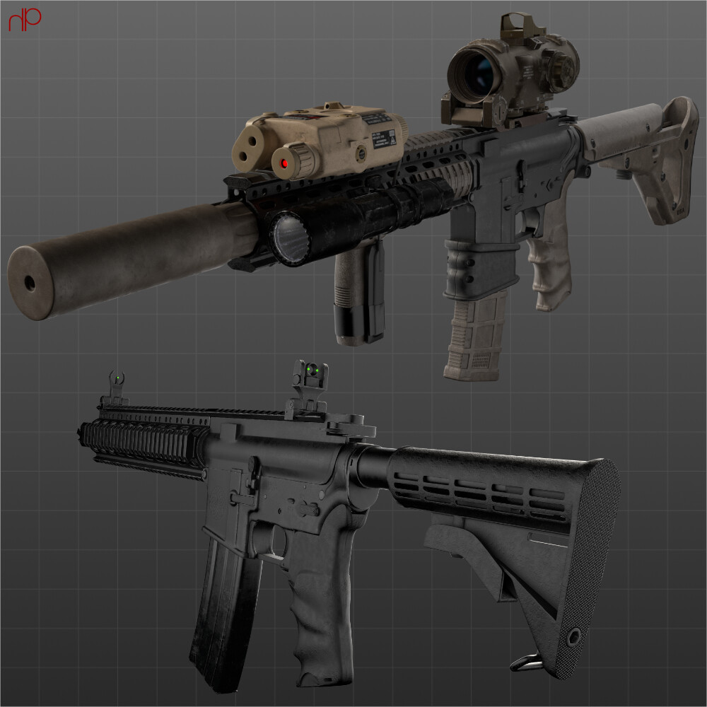 Modelling: Assault Rifle & Accessories