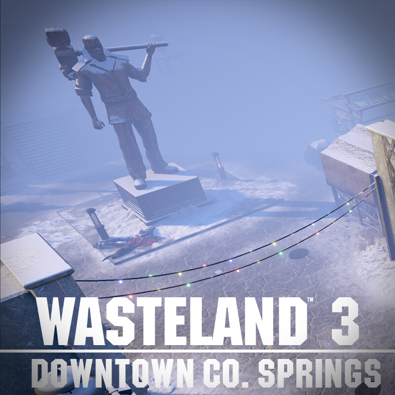 Wasteland 3 Environment Art - Downtown Co. Springs