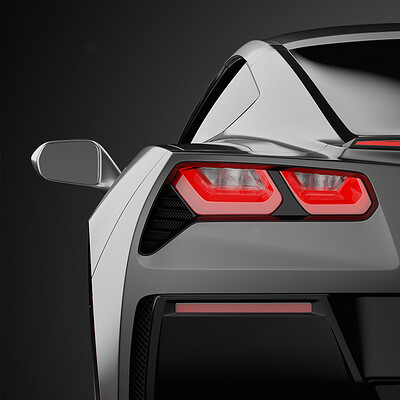 2018 Chevy Corvette Stingray - Hardsurface Subdivision