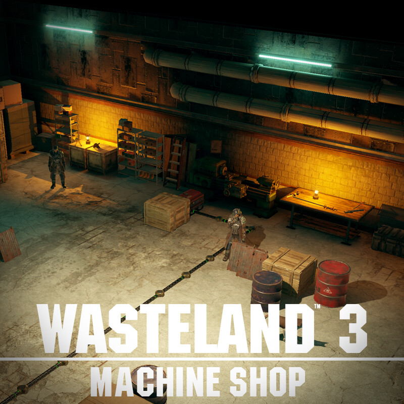Wasteland 3 Environment Art - Machine Shop