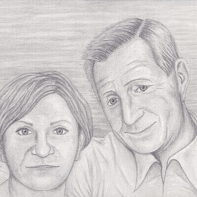 Double portrait of my aunt and her late husband