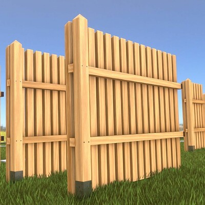 Dennis haupt 3dhaupt dennis haupt 3dhaupt modular wooden fence 1 5 meter version modeled and textured by 3dhaupt in blender 2 9 2