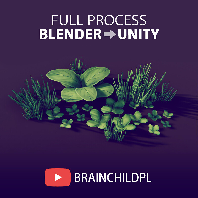 [Youtube Video ] Low Poly Grass Game Foliage in Blender 🌿 Low Poly Game Art 🌿3d Blender to Unity