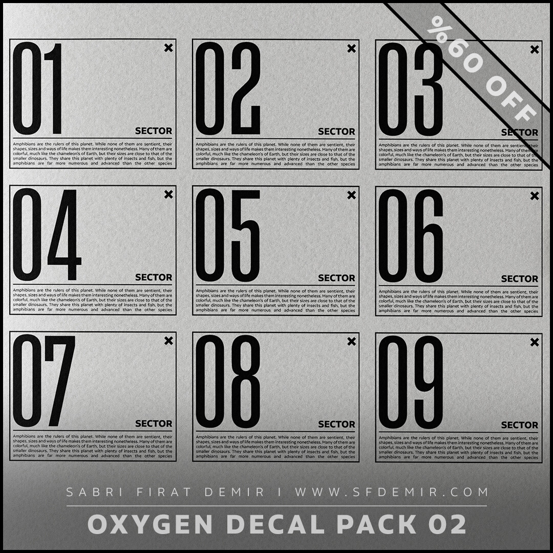 Oxygen Alpha - Decal Map Series 02 - Collection