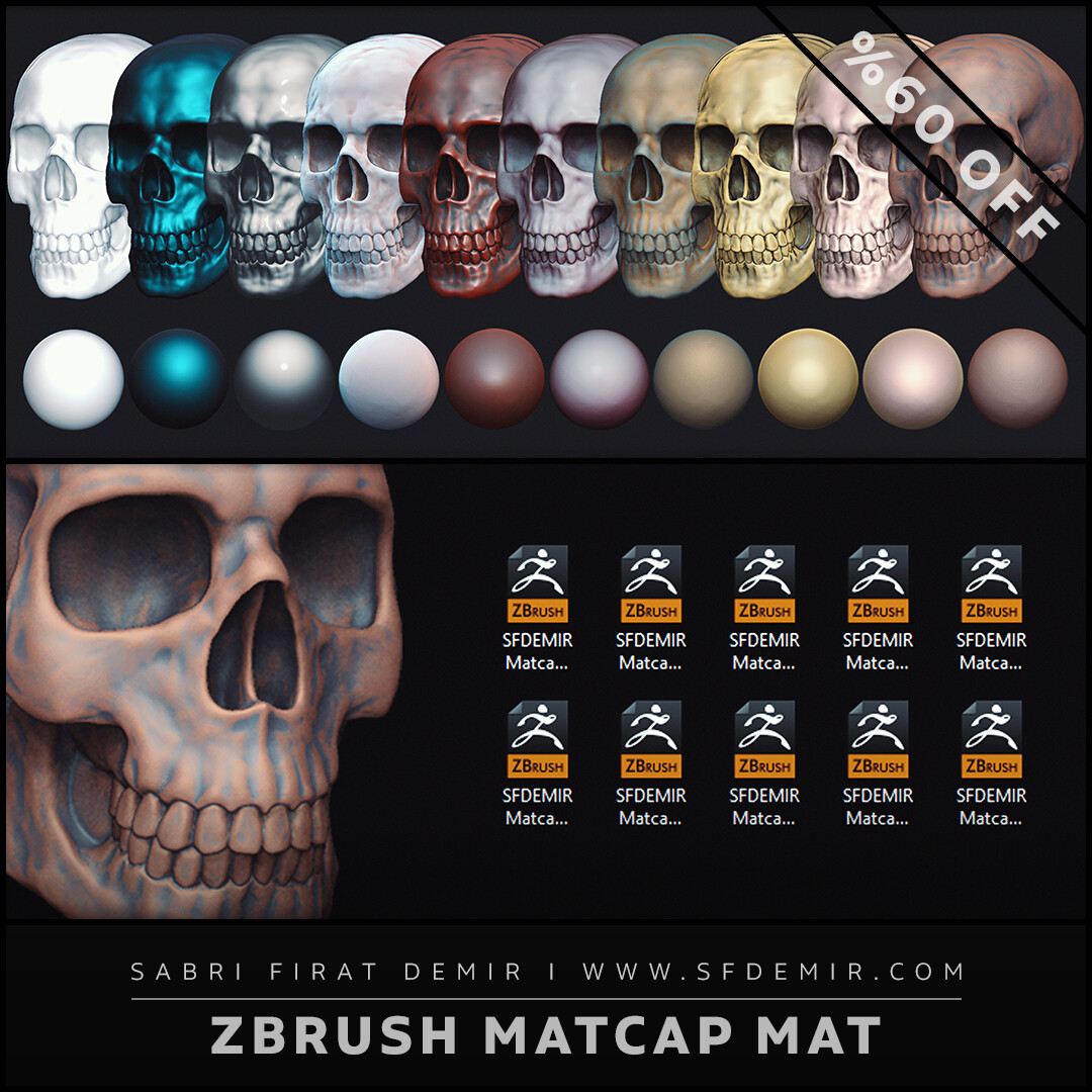 SFDEMIR ZBrush Matcap Material Collection