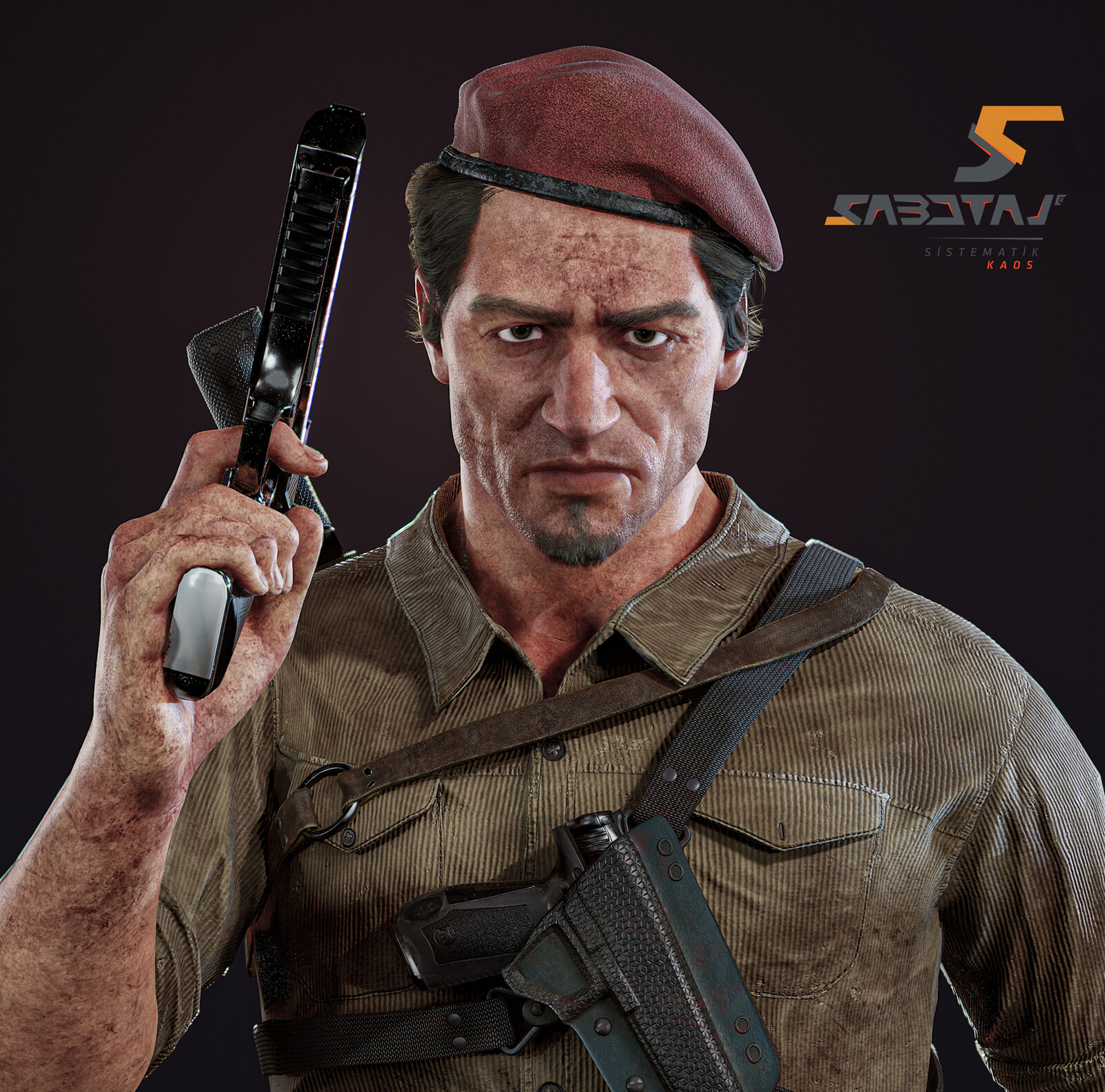 Oscar Character Art for Sabotaj (Sabotage) MMO FPS Game