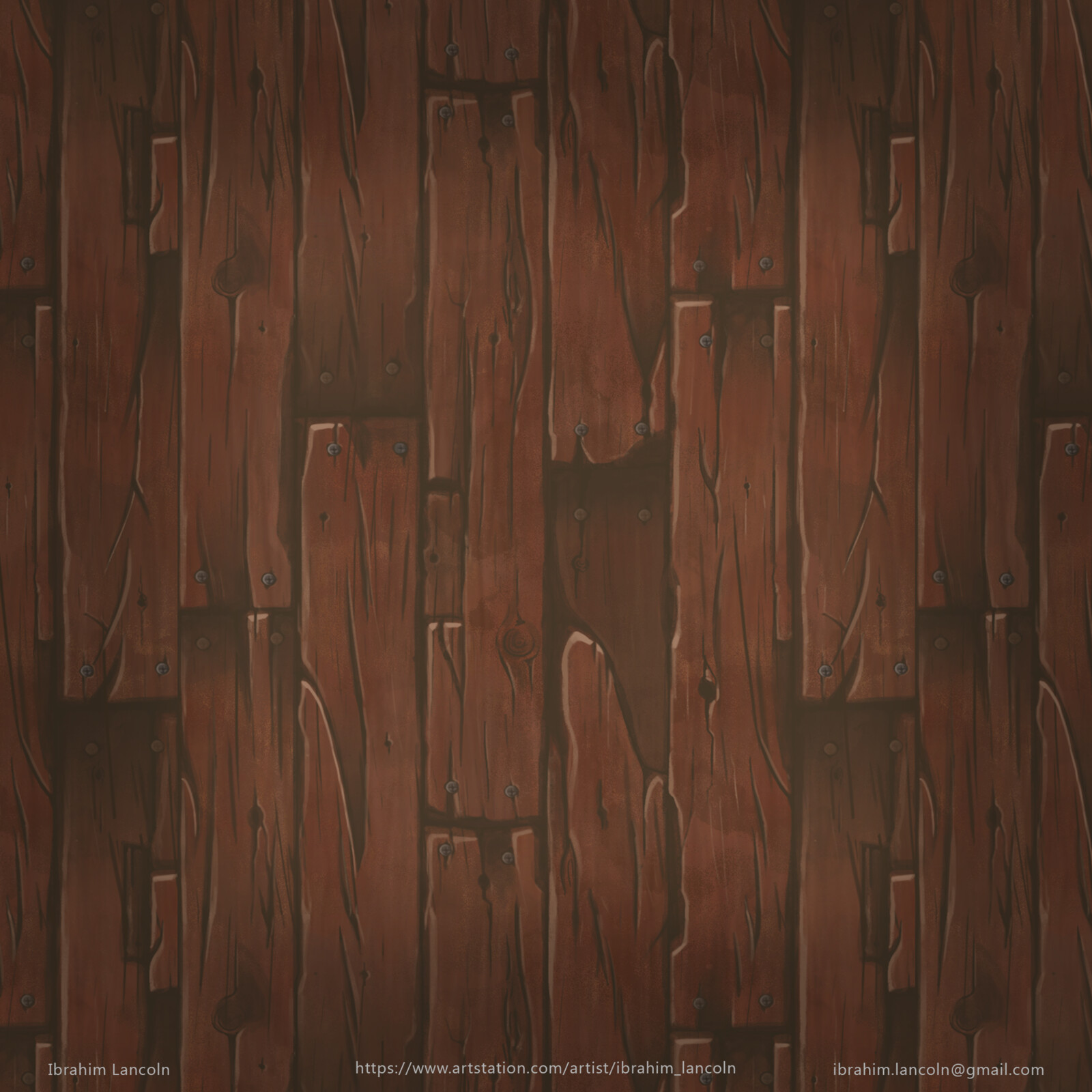 Stylized wood planks material