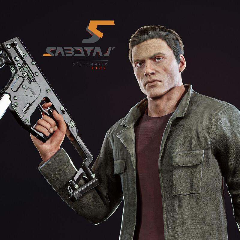 Janek Character Art for Sabotaj (Sabotage)  MMO FPS Game