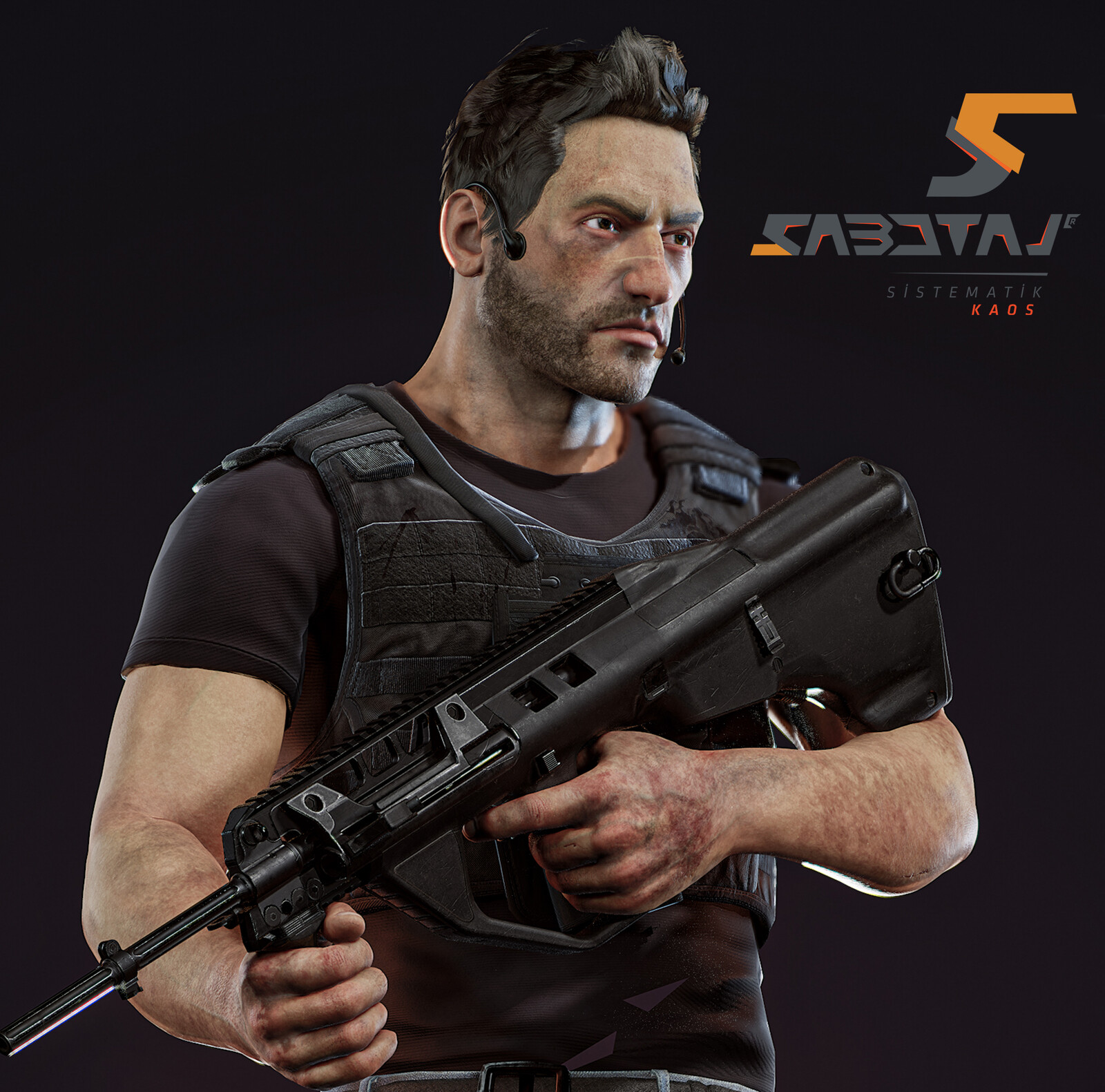 Arthur Character Art for Sabotaj (Sabotage) MMO FPS Game